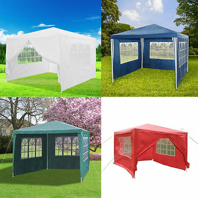 3*3m Waterproof Outdoor Cover Garden Marquee Canopy BBQ Party Tent Patio Gazebo