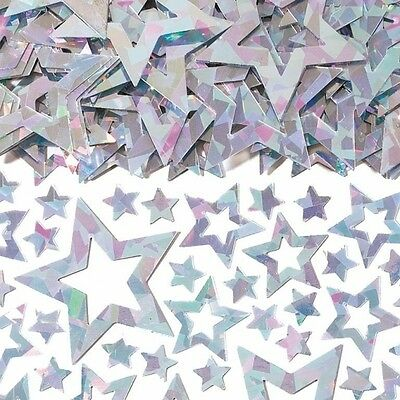 Silver Stars Shimmer Table Confetti - Party Decoration