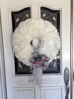 Hand Made Christmas Wreath With Coffee Filters.