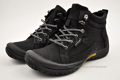 Men's Black Hiking Trail Casual Winter Work Boots Shoes Genuine Leather 60133