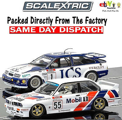 NEW Scalextric Slot Cars Legends Twin Pack Sierra & BMW Limited Edition C3693A