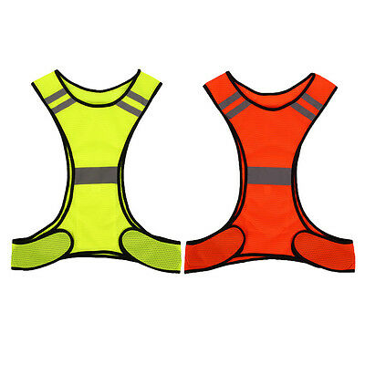Reflective Vest Night Work Sport Running Cycling Fluorescent High Visibility