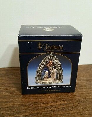 2004 Fontanini Lighted Arch W/holy Family Christmas Ornament In Box!