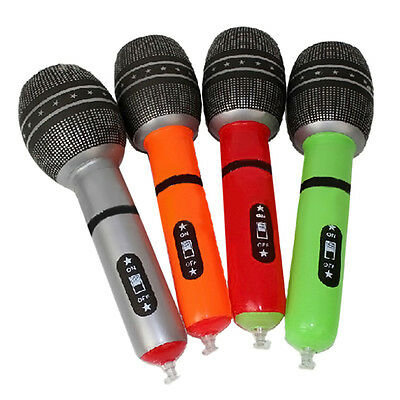 Inflatable Microphone Fancy Dress Party  Disco DJ Children Blow Up Toys Play New