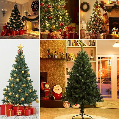 Christmas tree artificial xmas 180cm with stand for 180 degrees christmas decoration