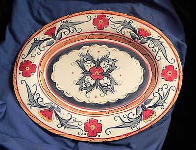 "Tabletops Gallery Italiano 17"" Oval Turkey Platter"