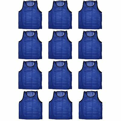 Blue Dot Trading High Quality 12 Blue Adult Sports Pinnies-12 Scrimmage Training