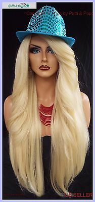 """25"""" Long Lace Front Deep Cpart High Heat Safe Wig Color 613  Sexy 1097 New"""