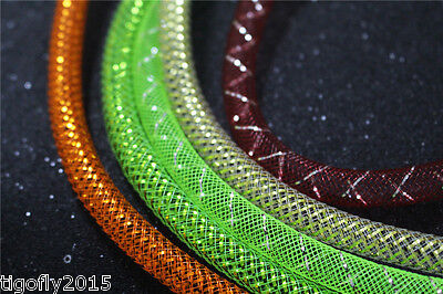 8m Assorted Colors&Sizes Mylar Tinsel Mesh Tube 6mm/8mm Width Fly Tying Material