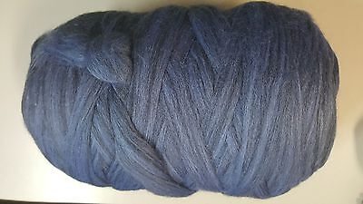 Wool Sliver #950 Delta Blue Mix - Ready to Spin or Felt 50g