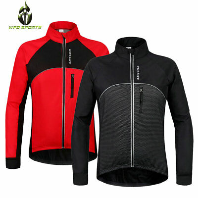 2017 Mens Cycling Jersey Full Sleeve Winter Fleece Thermal Cold Wear Jacket Tops