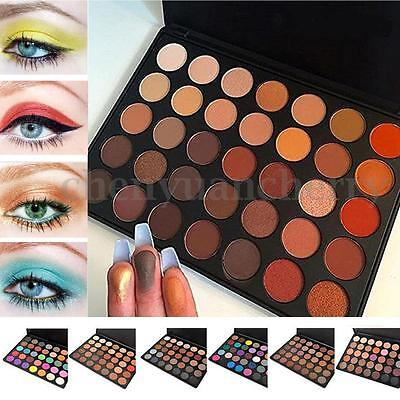 Pro 35 Colors Warm Nude Matte Shimmer Pigment Eyeshadow Palette Makeup Cosmetic