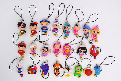 Wholesale Lots colorful 10ps FIMO polymer clay Animal Mobile phone chain jewelry