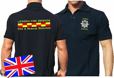 Poloshirt navy, London Fire Brigade - Fire & Rescue Services