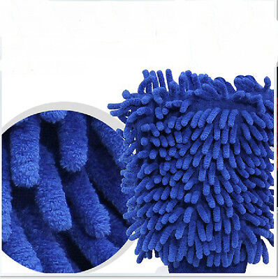 Car Microfiber Auto Cleaning Wash washing Mitten Cloth Mitt Color Gloves