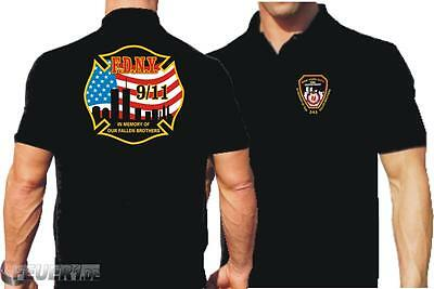 "Poloshirt black, ""In Memory of..."" 4farbig"