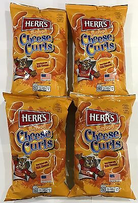 903350 4 x 198.5g BAGS OF HERR'S CHEESY CHEESE - CHEESE CURLS - MADE IN THE USA!