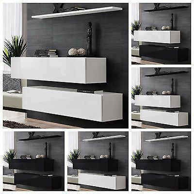 Modern Chest Drawers Cabinet Sideboard Cupboard High Gloss SWITCH II Free P&P