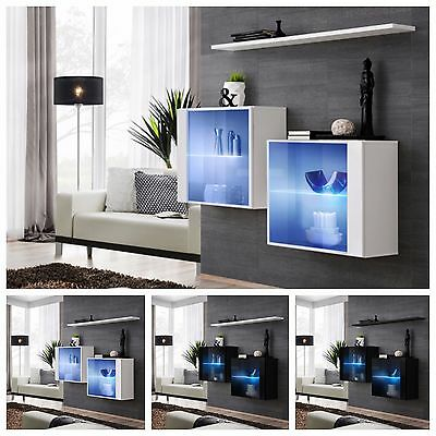 Modern Chest Drawers Cabinet Sideboard Cupboard High Gloss SWITCH III Led's P&P