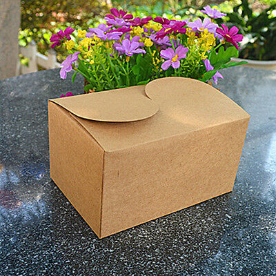 20/120/600Pcs Kraft Paper Gift Boxes Candy Box Wedding Party Favors Bags Brown