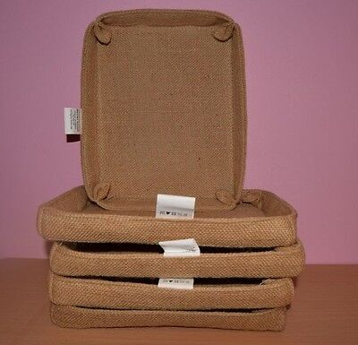 5 x Jute Basket Tray Ideal For Packing Gifts For Any Occasion