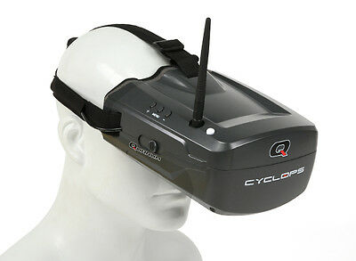 RC Quanum Cyclops FPV Goggle w/ Integrated Monitor and Receiver