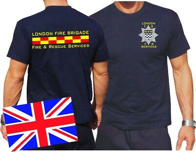 T-Shirt navy, London Fire Brigade - Fire & Rescue Services