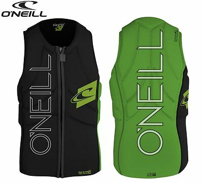 O'Neill Slasher Wakeboard/Kite Vest Collition protector Neoprene Black/Green