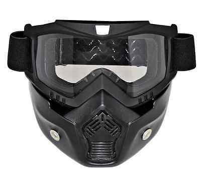 CRG Motorcycle Riding Mask With Goggle For 3/4 Open Face Motorcycle Helmet