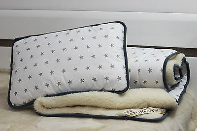 SALE! MERINO WOOL BABY DUVET 120 x 150 CM + PILLOW 40 x 60 PERFECT FOR GIFT !