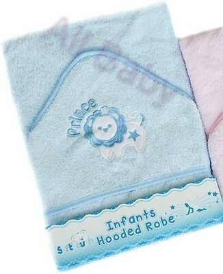**NEW** Beautiful Soft Blue Lion Prince Baby / Infant  Hooded Bath Towel / Robe
