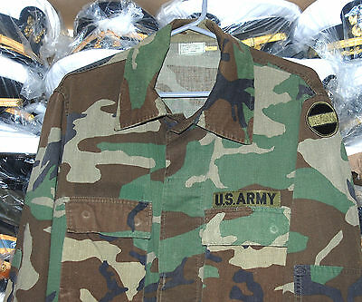 Us Army Woodland Camouflage Combat Coat. (A)