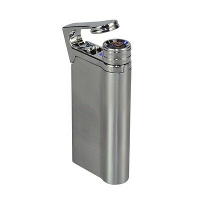 New Usb Silver Cigarette / Cigar Lighter Rechargeable Flameless Electronic