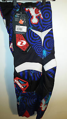 One Industries Youth Motocross Pants, Carbon Torment Size 24