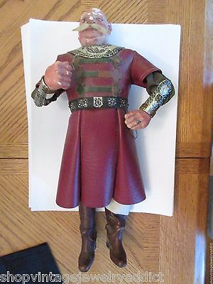 Antique Doll Man Unknown Estate Dressed leather Emperor Detailed Composition