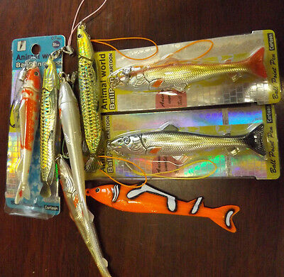 1x COLLECTABLE NOVELTY FISH COD HAKE TROUT CLOWN FISH SHINY PEN GIFT IDEA UKSELL