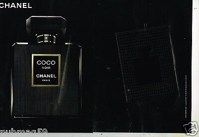 Publicité Advertising 2013 (2 pages) Parfum Coco Noir de Chanel