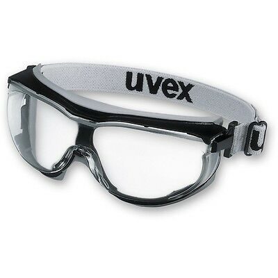 Uvex Carbonvision Clear Safety Goggles. Wide-Vision Anti-Fog, Clear Lens. CE