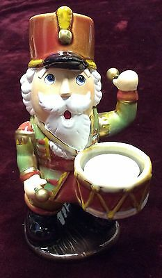 Yankee Candle Nutcracker playing Drum Christmas Holiday Candle Votive Holder New
