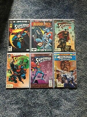 Superman: Man of Steel Annuals 1-6 Complete Run DC Comics