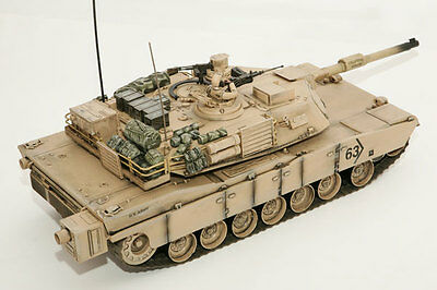 RC TANK Hobby Engine M1A2 ABRAMS 1:16 scale 2.4GHz RC Sounds/Lights RTR HE0817
