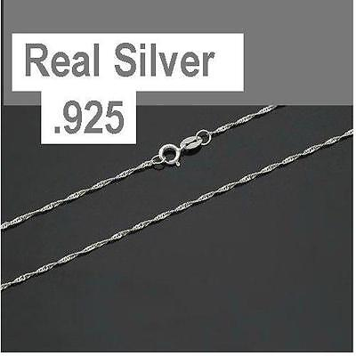 .925 Sterling Silver 1.2mm ROPE Chain Necklace for Pendants *Wholesale Prices*