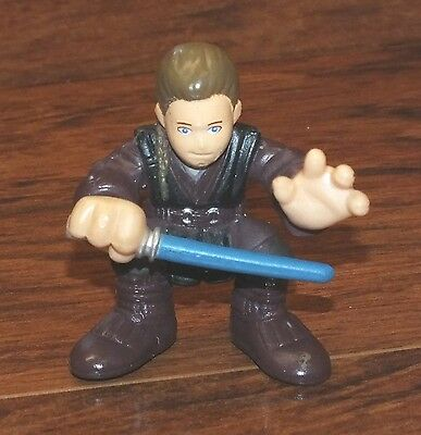 Genuine Hasbro Star Wars Galactic Heroes 2001 Anakin Blue Lightsaber Toy Figure