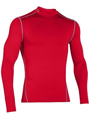 Under Armour Mens Base Layer Coldgear Armour Compression Mock Red New Sports