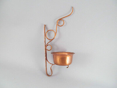Vintage The Avon Coppersmith Solid Copper Hand Hammered Wall Hung Plant Holder