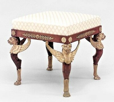 French Empire Style (19th Cent.) Mahogany Square Benches