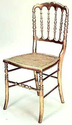 French Victorian Style Gilt Ballroom Side Chairs