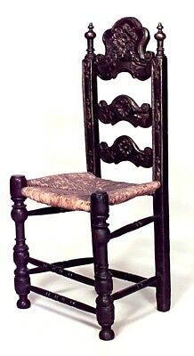 Italian Renaissance Style (17th Cent) Carved Side Chair