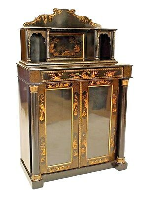 English Regency Style (19th Cent) Chinoiserie Design 2 Door Sideboard Cabinet