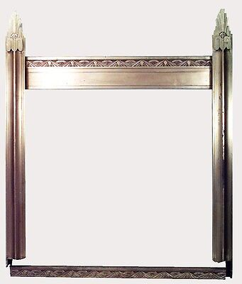 Art Deco (American) bronze store front frame with geometric design